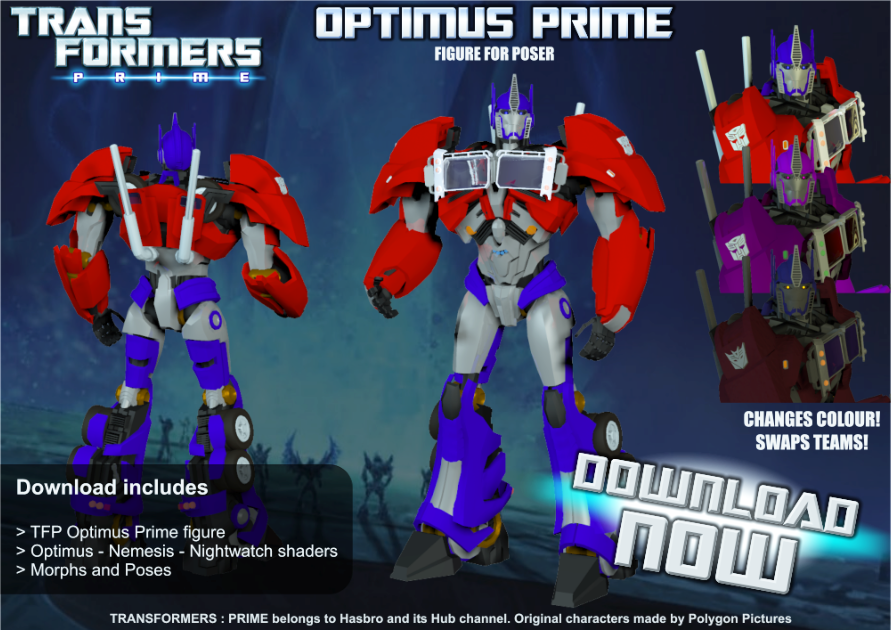 TRANSFORMERS : PRIME Optimus Prime for Poser by RazzieMbessai on