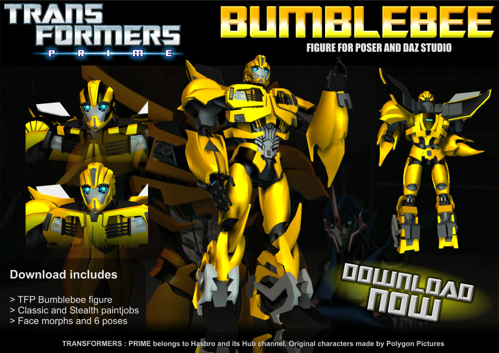 TFP Bumblebee for Poser + MMD