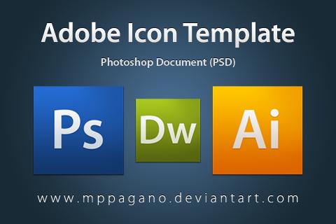 PSD: Adobe Icon Template by mppagano