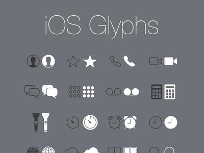 Free: iOS Glyphs (PSD)