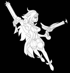 Star Guardian Miss Fortune  Ink - Coloring Page