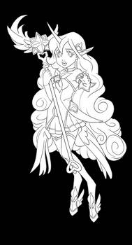 Star Guardian Soraka - Coloring Page