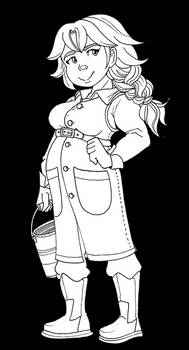 Marnie - Free line art - Stardew Valley