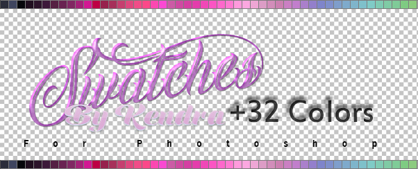 +32 Muestras /Swatches for Photoshop by kendra19082002