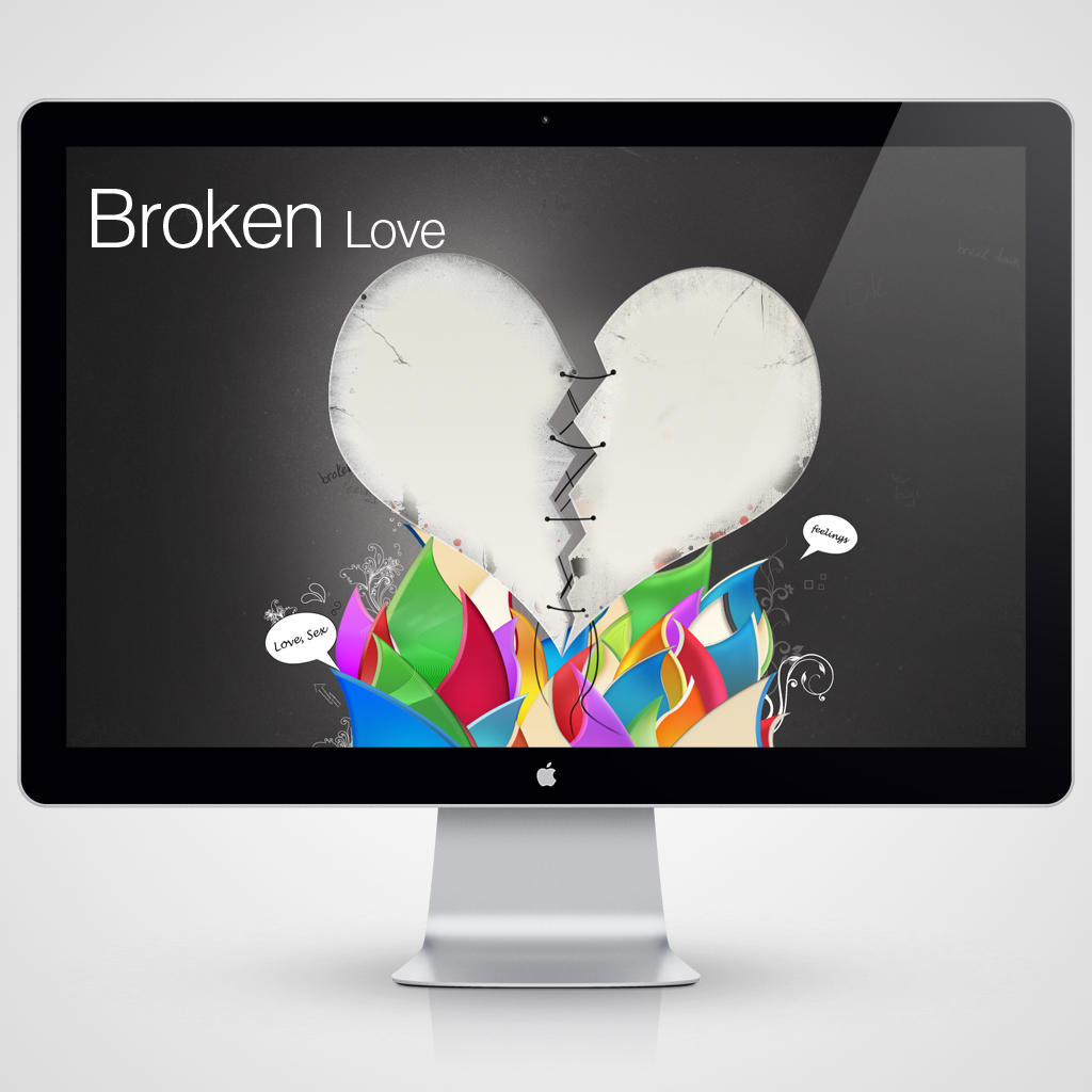 Broken Love Wallpaper For Mobile : Broken Love Wallpaper by clackographix on DeviantArt