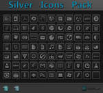 Silver Icon Pack + PSD