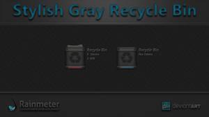 Stylish Gray Recycle Bin