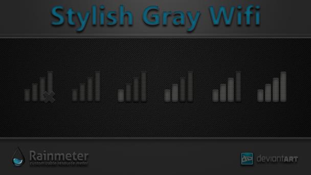 Stylish Gray Wifi by WwGallery