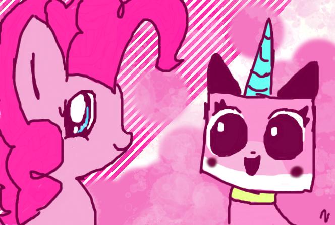 Unikitty and pinkie pie - Pinky buddies by Nyanpegasus8uUnikitty Pinkie Pie