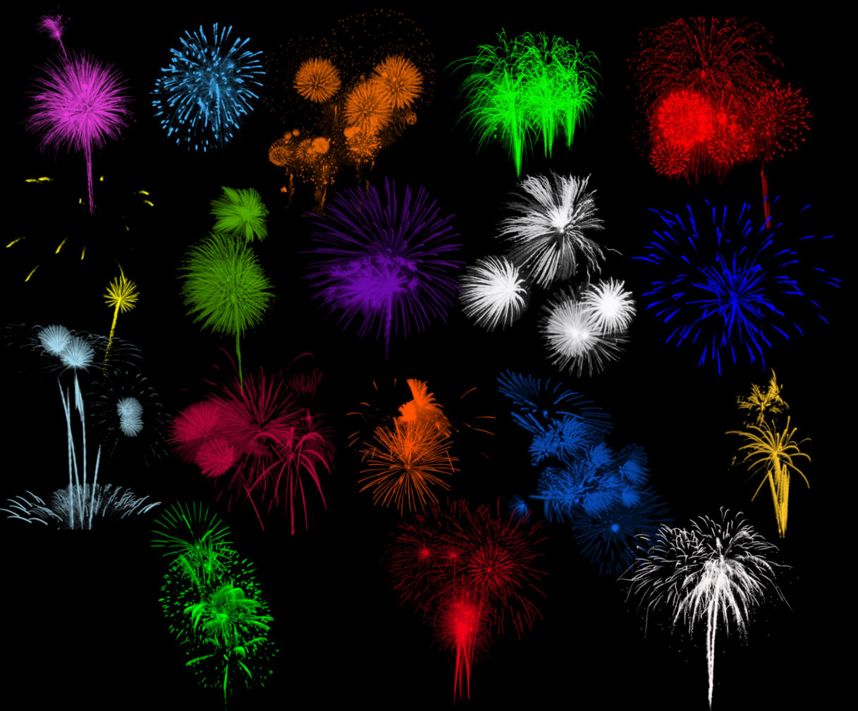 Brushes - Fireworks Set 2 by Immrgy