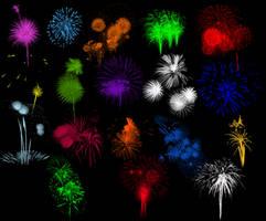 Brushes - Fireworks Set 2 by Immrgy