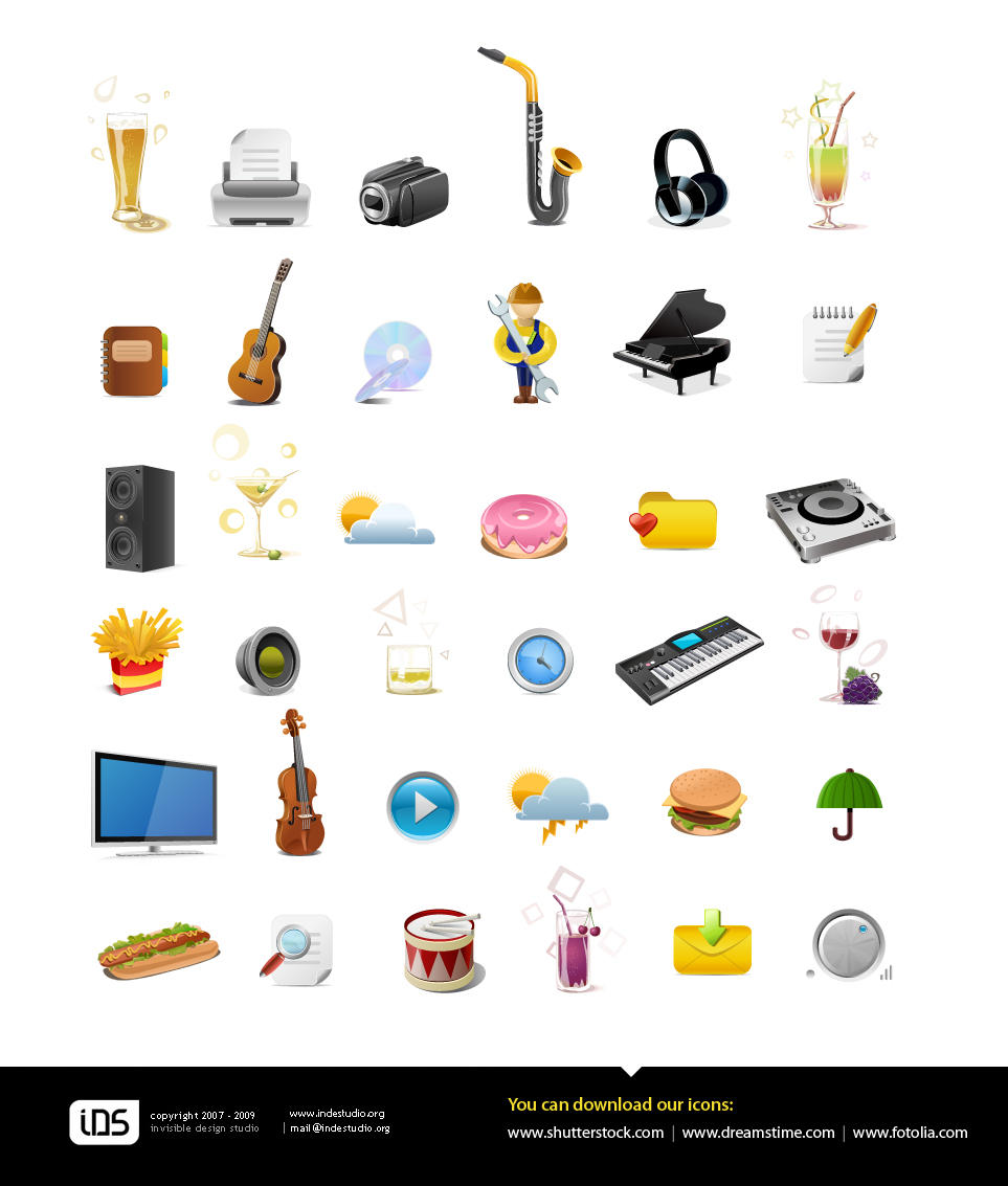 Stock icons by indestudio