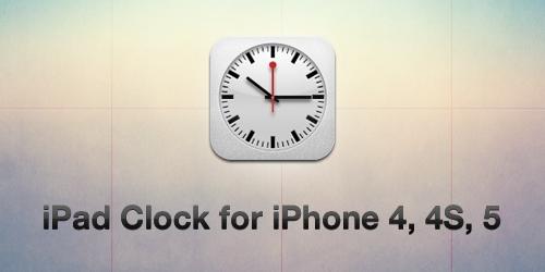 iOS6 iPad Clock for iPhone 4, 4S, 5 by elpiimsguajee