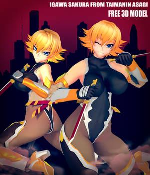 [DL] Sakura Igawa from Taimanin Asagi Free 3DModel