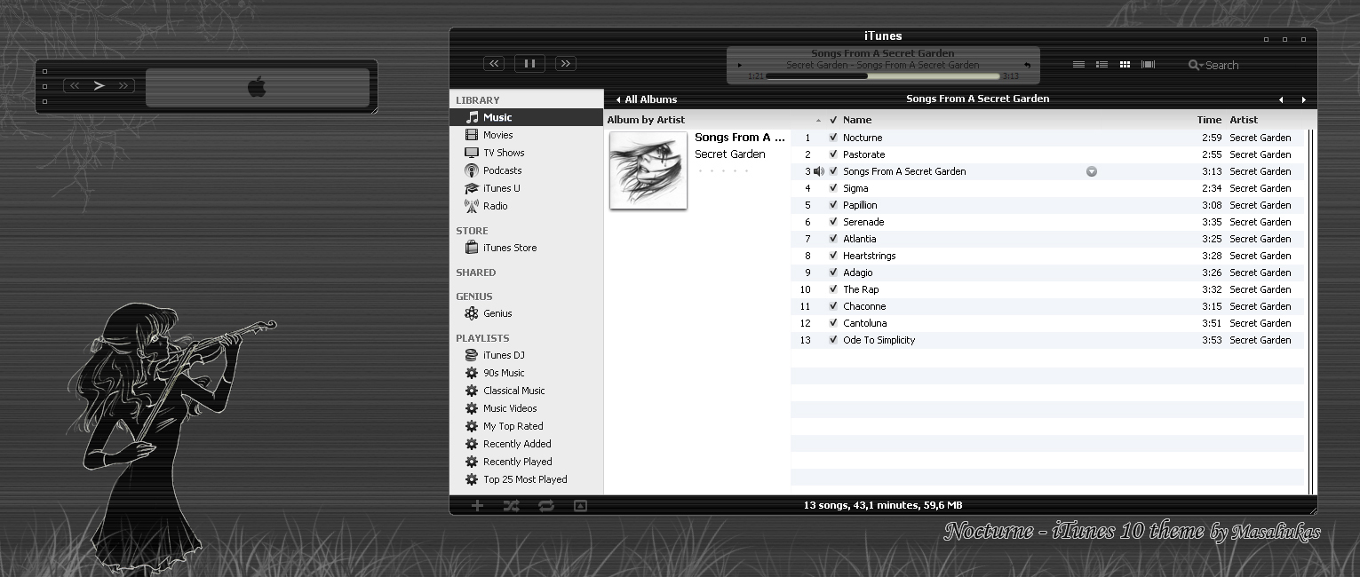 Nocturne for  iTunes 10