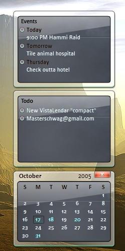 """New VistaLendar """"compact"""" by masterschwag"""