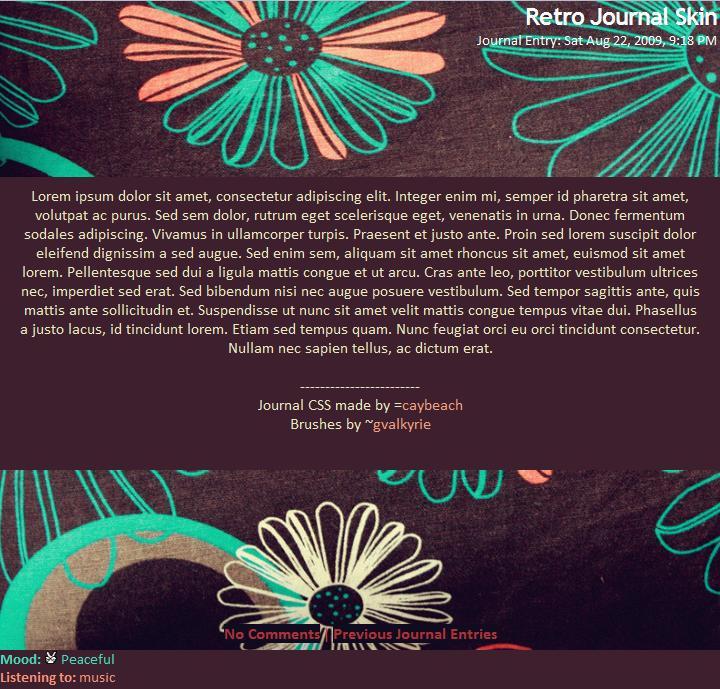 Retro Journal Skin by caybeach