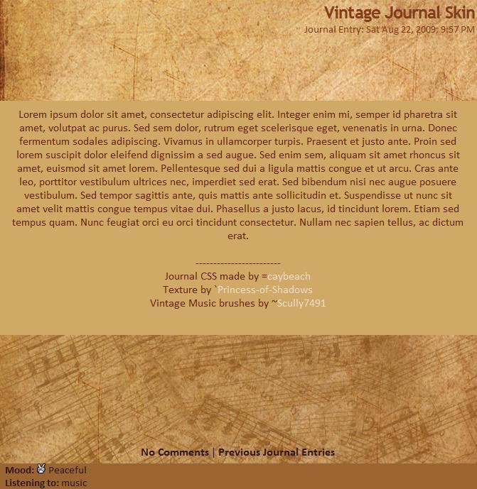 Vintage Journal Skin by caybeach