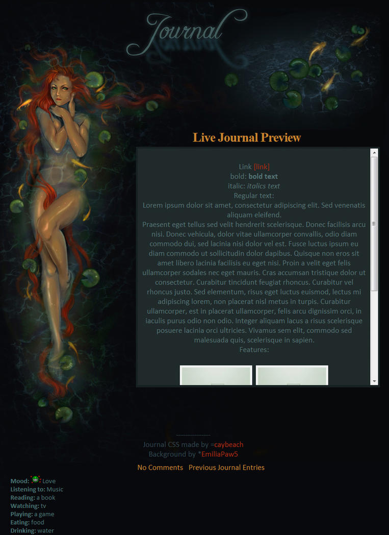 Journal for EmiliaPaw5 by caybeach