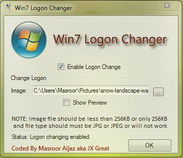 Win7 Logon Changer by MasroorAijaz