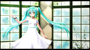 Tda-styled White Eve Miku [Download] by Nidoru-RS