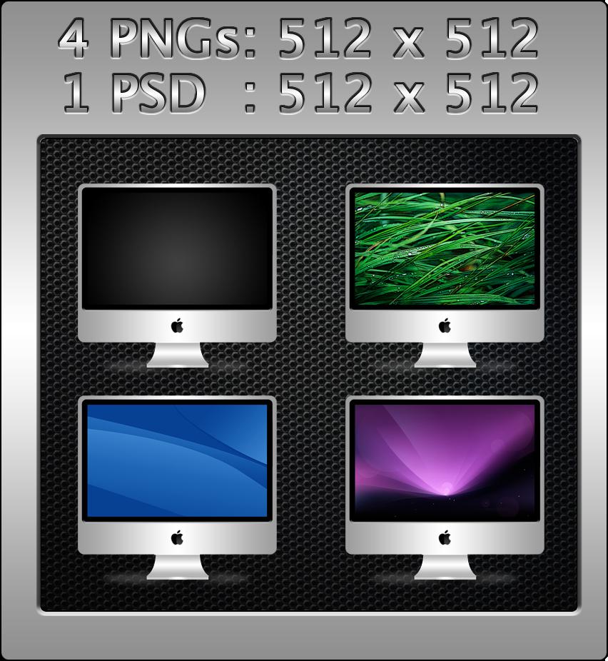iMac PSD by bohemiadrinker