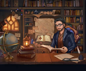 Scholar - animated illustration