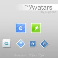 PSD.AvatarPack vol.1 by eupholic