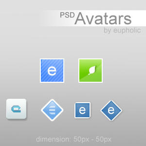 PSD.AvatarPack vol.1 by eupholic