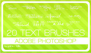 20 text brushes