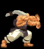 Gouken Close Heavy Punch, also Hadouken