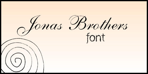 JonasBrothers Font by MyMusicalWorld
