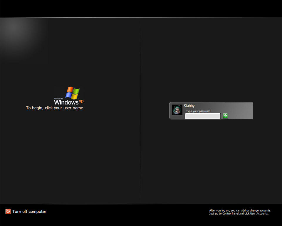 XP Black Logon by StabbyMcTwist