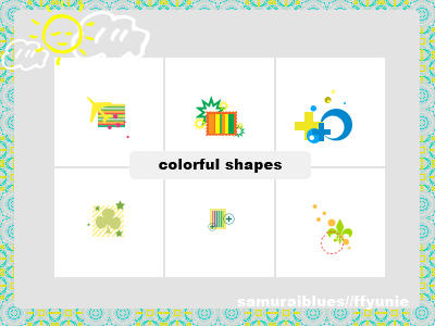 Colorful Shapes by ffyunie