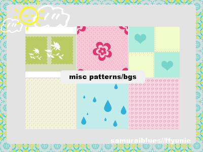 misc patterns-bgs by ffyunie