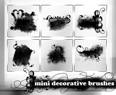 004- mini decorative brushes by ffyunie