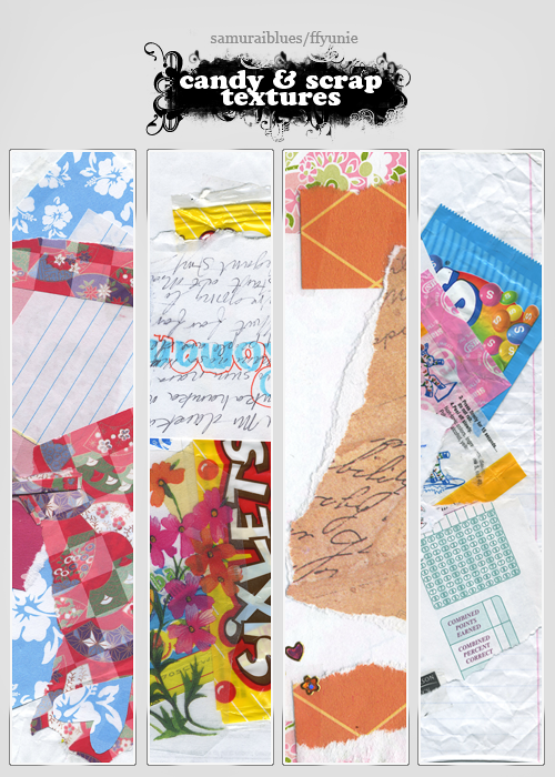 candy and scrap textures 31 by ffyunie