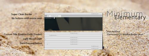 Elementary Minimum (Elementary OS WIndow Border) by rhoconlinux