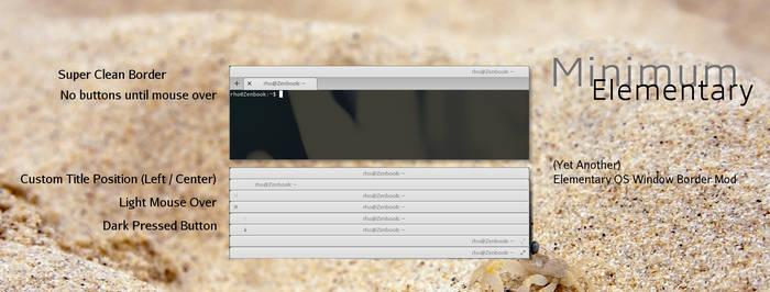 Elementary Minimum (Elementary OS WIndow Border)