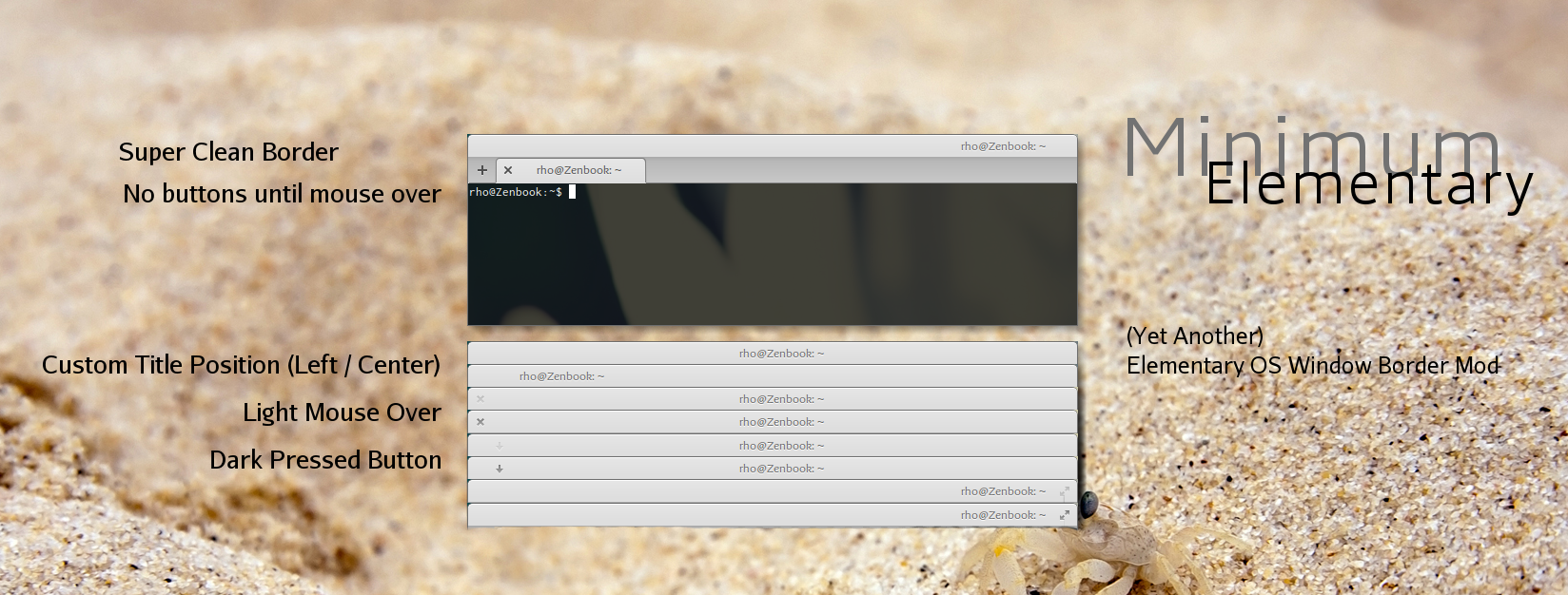 Elementary Minimum (Elementary OS WIndow Border) by rhoconlinux