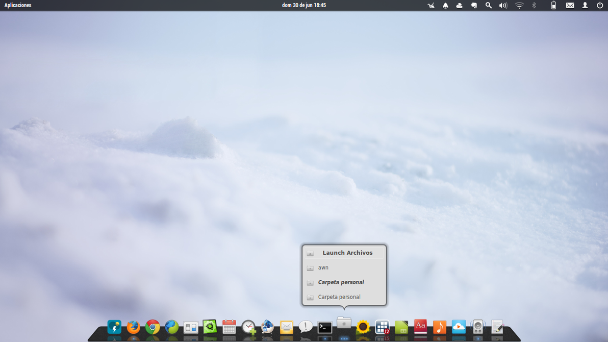 Awn Dock Awn Theme Elementary Blackmarmol By Rhoconlinux On
