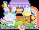 Bee Pixel Animation/Bubbles Bunny by Sundaesy