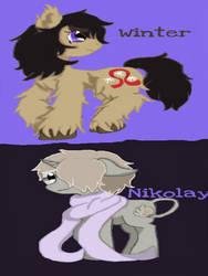 Winter and Nikolay Braginsky (MLP Style)