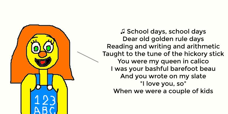 school days song sheet music