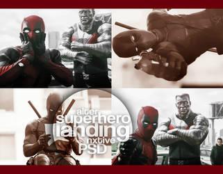 psd | superhero landing || by Alternxtive