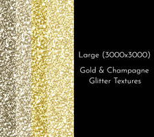 Gold and Champagne Glitter Texture Pack