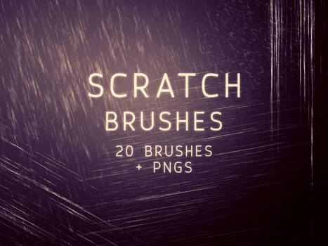 Scratch Photoshop Brushes and PNGs (Sets of 20)