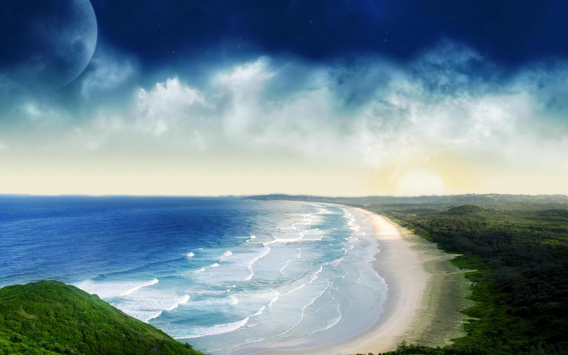 Coastal Sunset by nuaHs