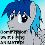 Animated Pony Commission: Swift Flying