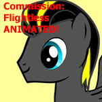 Animated Pony Commission: Flightless by MAJORA64